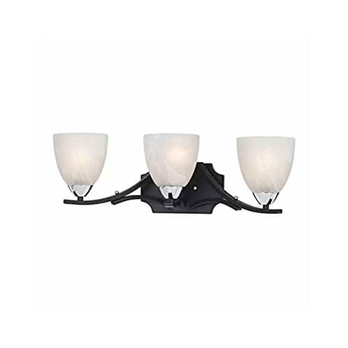 Black 3-Light Vanity Light