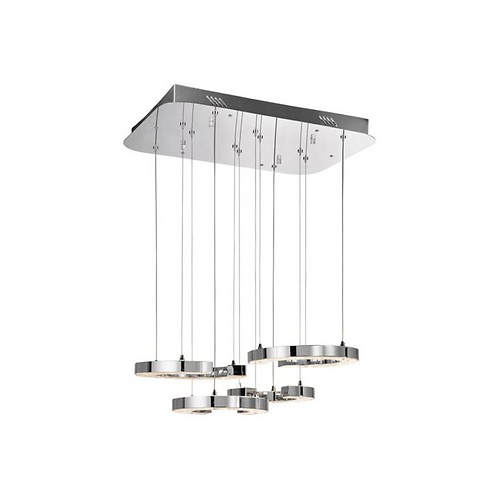 Chrome Crushed Ice Chandelier