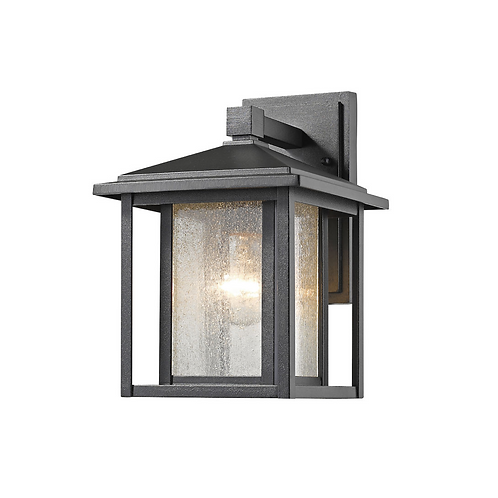 """10.88"""" Black Outdoor Wall Sconce"""