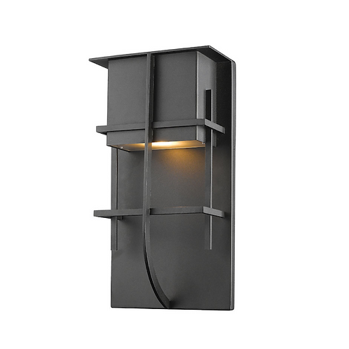 """14.75"""" Black Outdoor Wall Sconce"""