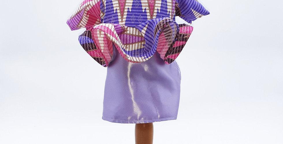Purple Batik Kalimantan Peplum
