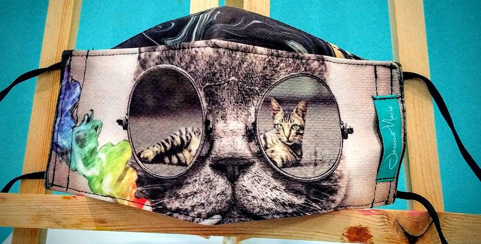 Boat Mask - Cat Color Splash