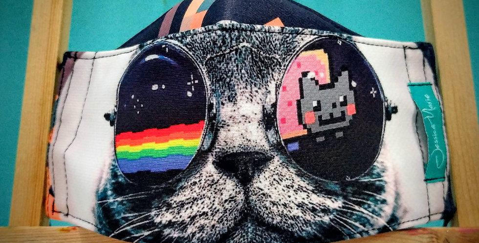 Boat Mask - Cat pixels