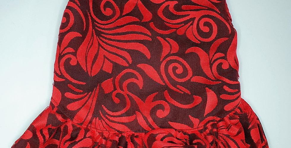 Red Modern Batik Baby Doll