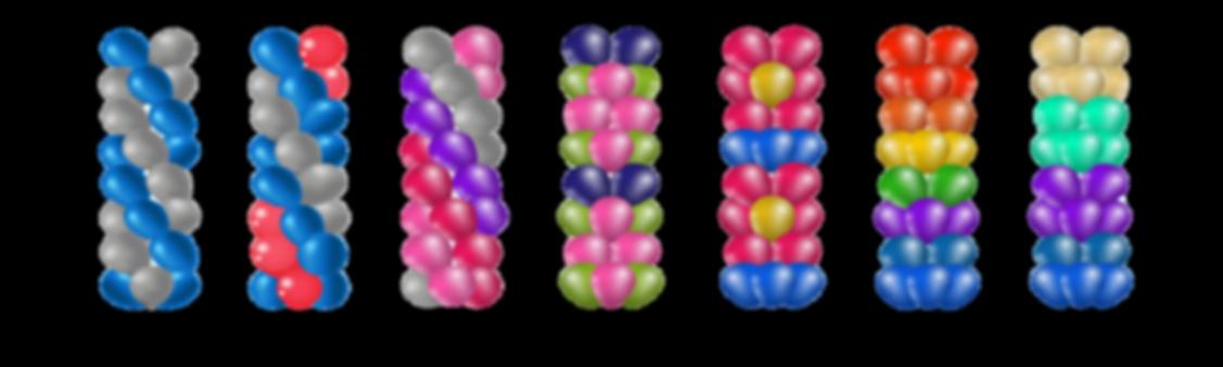 balloon column decorations