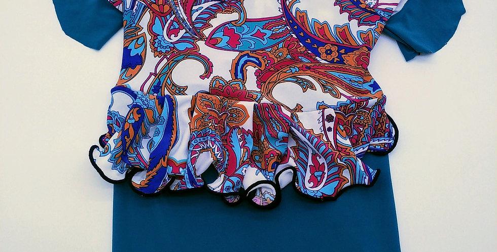 Turquoise Batik Kebaya Female Size M/L