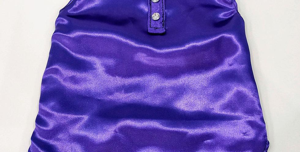 Male Purple Adjustable Sleeveless Size M