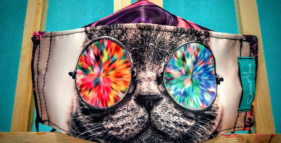 Boat Mask - Cat Psychedelic