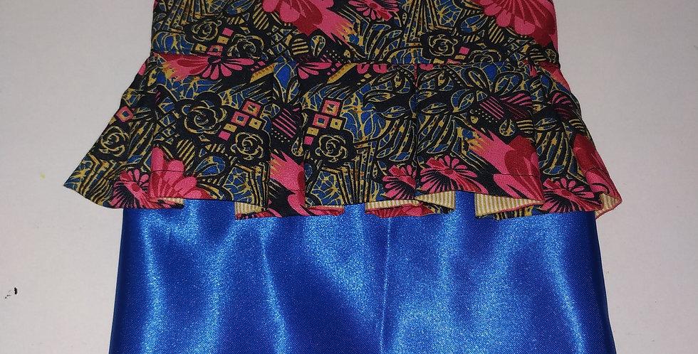 Floral + Royal Blue Size S