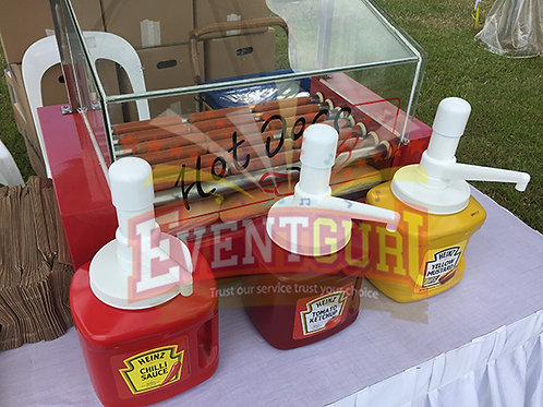 hotdog buns station