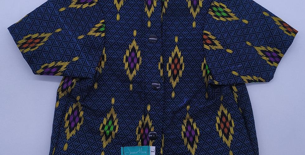 Batik Kalimantan Blue Size L