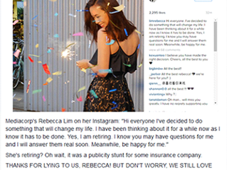 Rebecca Lim: Celebrity sell or sell-out?