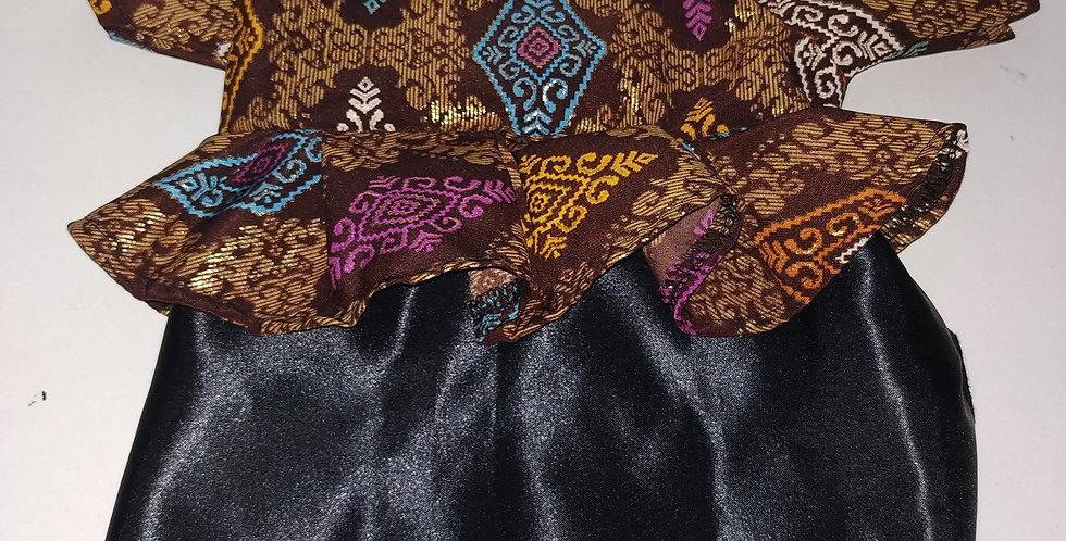 Brown Batik Kalimantan Size XS