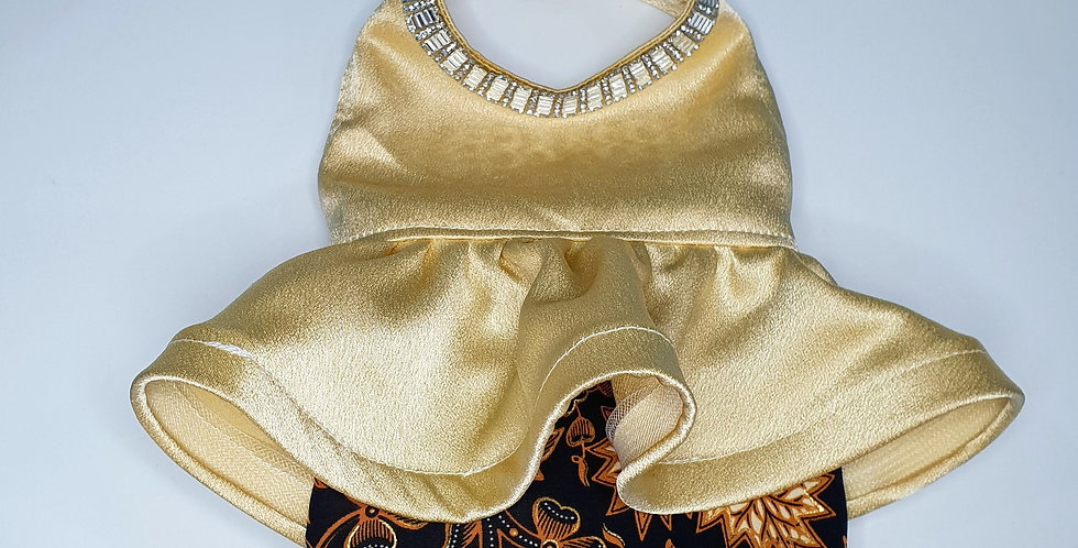 Champaign Peplum with Batik