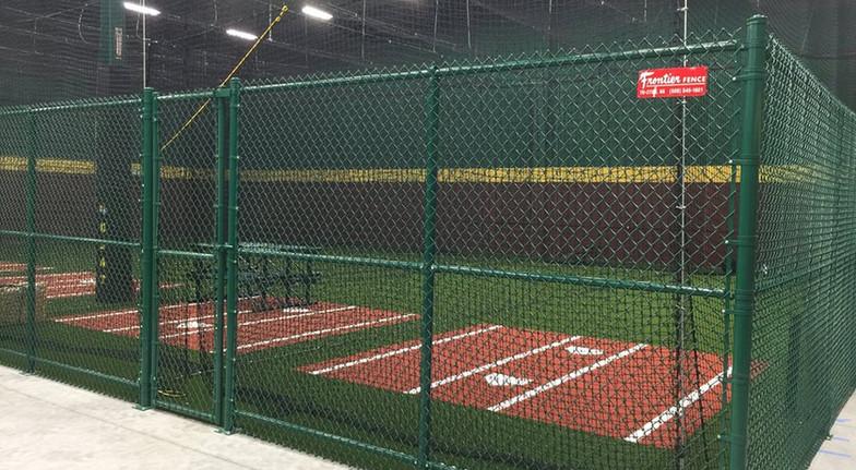 Green Chain Link Baseball Enclosure