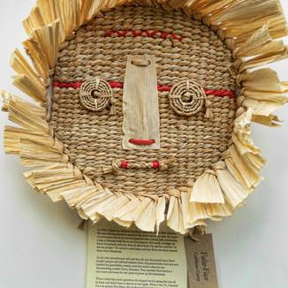 False Face: Handmade/woven mask