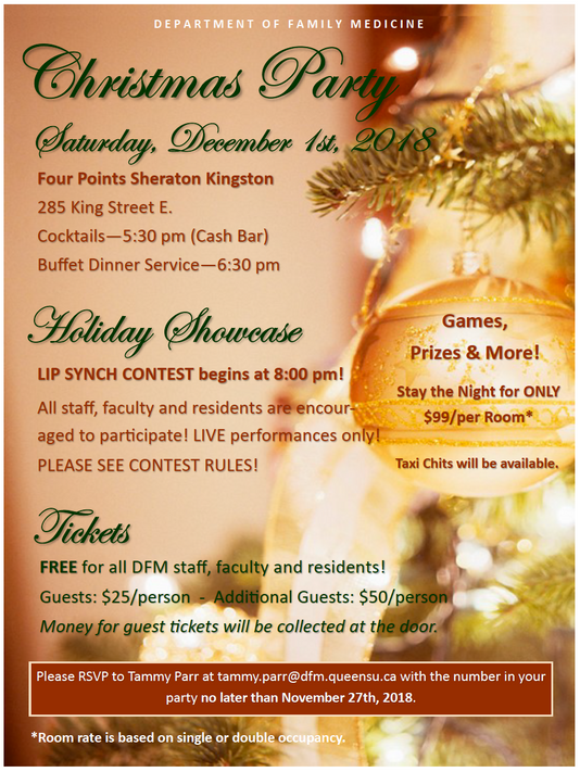DFM Christmas Party - Don't forget to RSVP