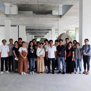 นักศึกษาญี่ปุ่นและทีมงาน Volume Metrix Studio เยี่ยมชมอาคารที่พักอุบาสิกา วัดป่าวชิรบรรพต จ.ชลบุรี