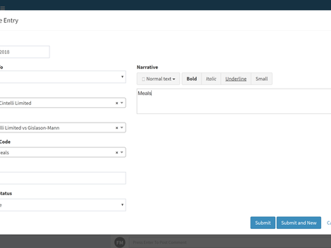 Expenses now available via matters.Cloud