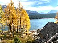 mountain and lake views in montana