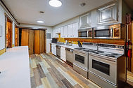 large hostel kitchen