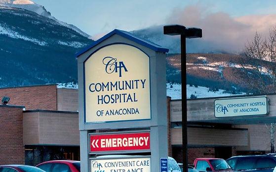 Anaconda Montana hospital sign