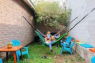 four girls on hammocks
