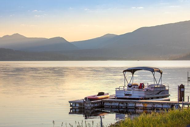 pontoon boat on georgetown lake montana