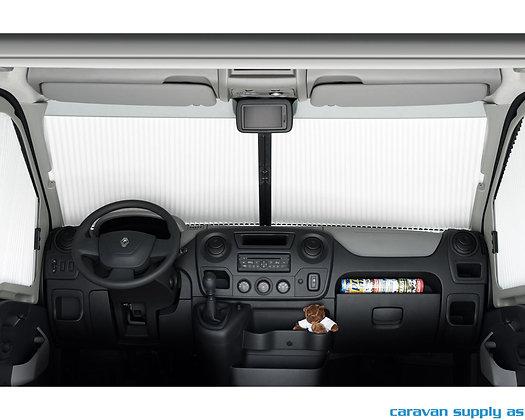 Plissegardin REMIfront IV Renault Master fra 2011 Front u/regn
