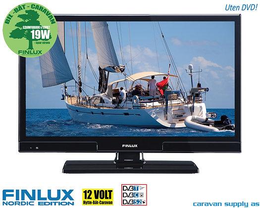 """TV Finlux 24"""" LED uten DVD 230V/12V T/C/S2 19W"""