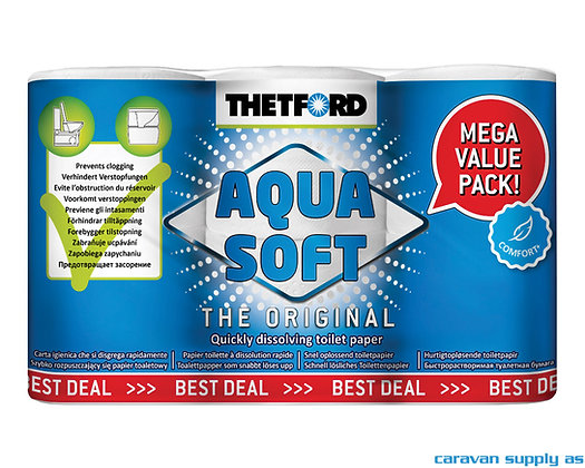 Toalettpapir Thetford Aqua Soft 6 pk.