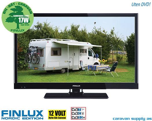 """TV Finlux 22"""" LED uten DVD 230V/12V T/C/S2 17W"""