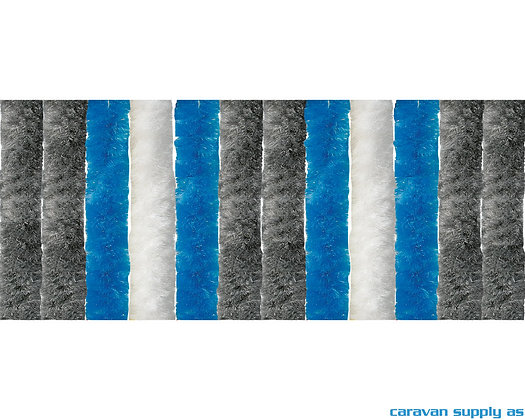 Dørforheng Arisol chenille 185x56 cm - Grå/Blå/Hvit