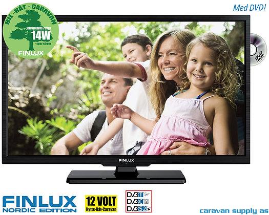 """TV Finlux 32"""" LED med DVD 230V/12V T/C/S2 14/19W"""