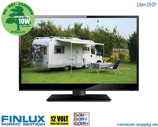 """TV 19"""" LED uten DVD 230V/12V T/C/S2 10W"""