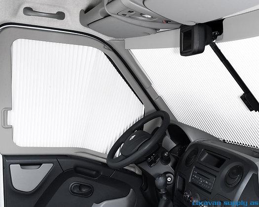 Plissegardin REMIfront IV Renault Master fra 2011 Sidevinduer