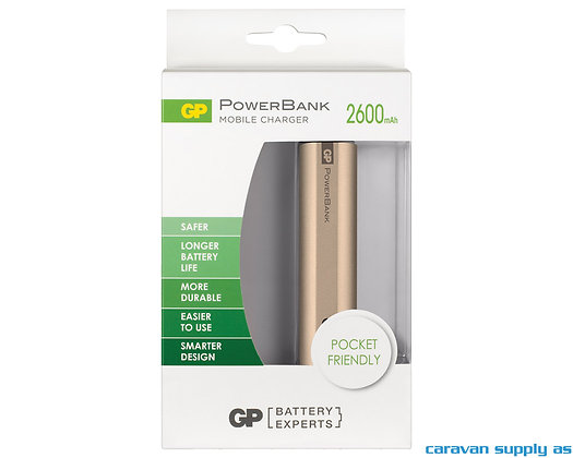 Powerbank GP Mobile Charger 2600mAh - Gull