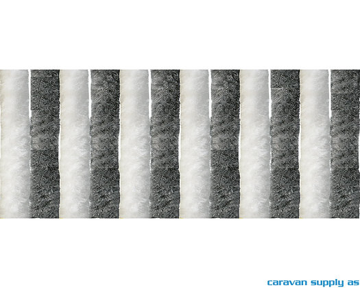 Dørforheng Arisol chenille 185x56 cm - Grå/Hvit