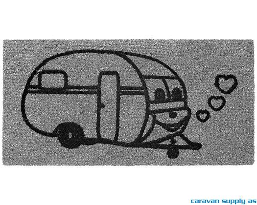 Dørmatte Arisol Derby Caravan 50x25 cm - Grå