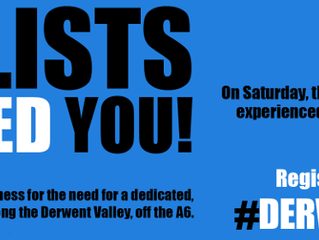 Derwent Valley Cycleway Campaign Ride Saturday 18th May