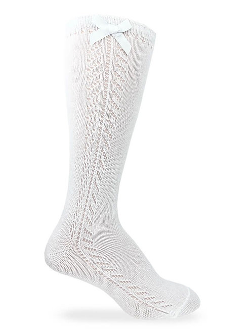 Jefferies   Pointelle Bow Knee Socks