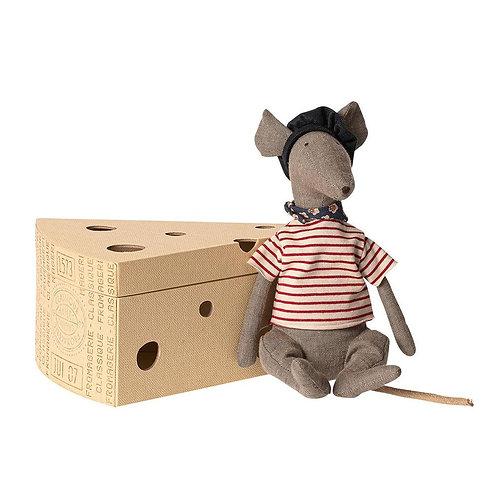 Maileg | French Rat in Cheese Box