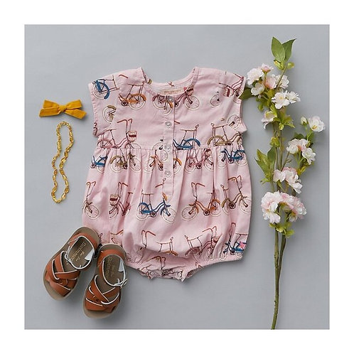 Pink Chicken | Bicycle Romper