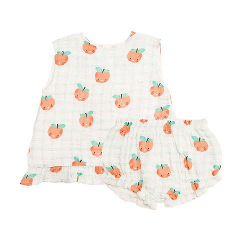 Angel Dear | Peaches Ruffle Top with Bloomer