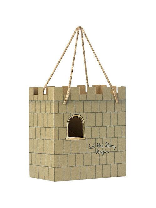 Maileg | Paper Bag, Castle - Mint