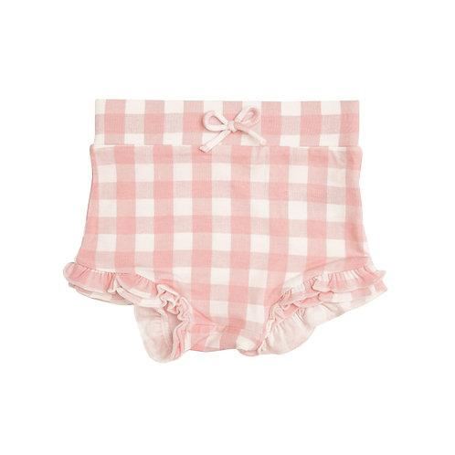Angel Dear | High Waist Gingham Shorts Pink