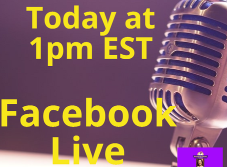 My First Facebook Live Today at 1pmEST!!
