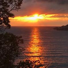 山の瀬からの夕日