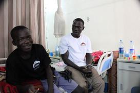 Dopo un´operazione di successo in un ospedale a Gulu