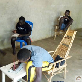 Children studying at our Youth Center